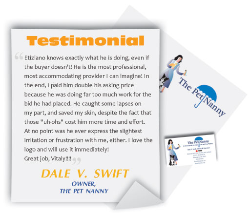 Logo Design Testimonial Dale V Swift
