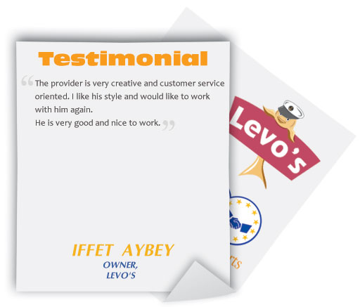 Logo Design Testimonial by Iffet Aybey
